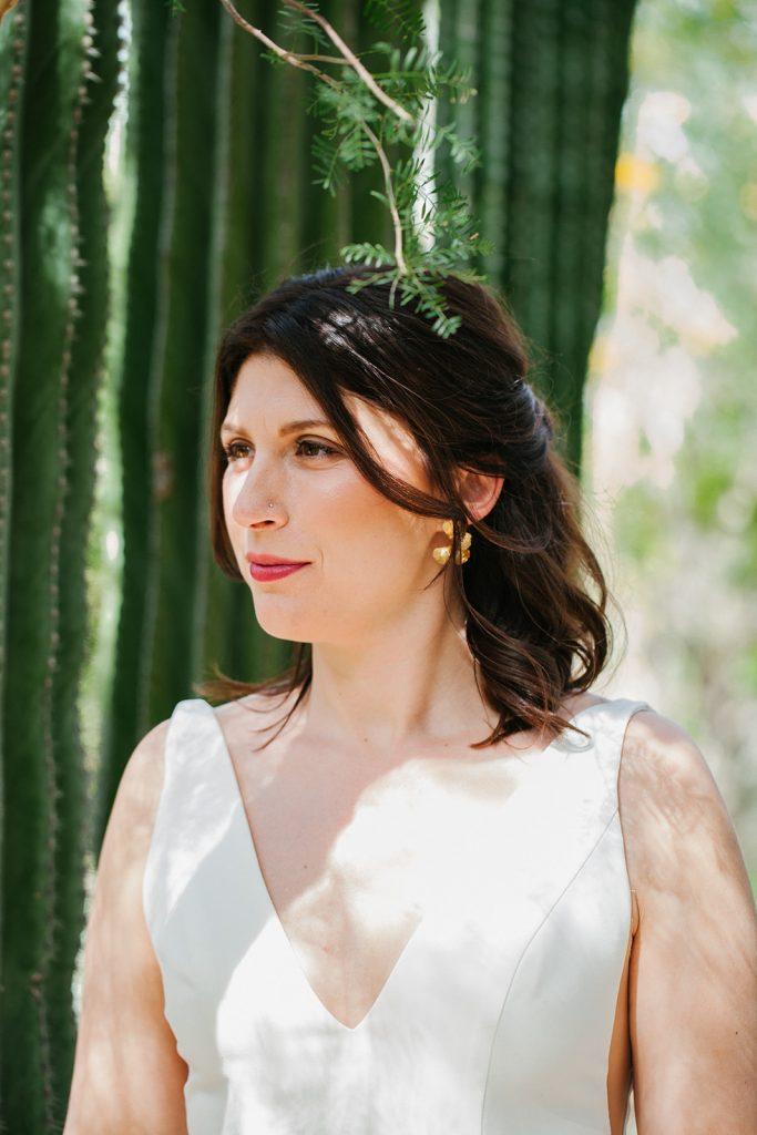 Catie + Nate Ace Hotel Palm Springs Wedding / Elwynn + Cass wedding hair and makeup